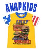 ハンバーガープリント・USAデザインTシャツ