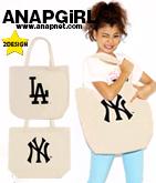 NY&LAプリントトートバッグ