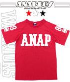 ロゴ&ナンバーデザインプリントTシャツ
