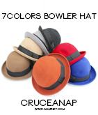 7カラーボーラー帽