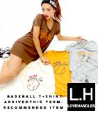 ベースボールプリントTシャツ