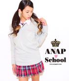 袖メッセージ&ANAPロゴ刺繍ネックセーター