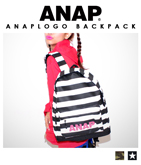 『ANAP』ロゴ3パターンリュック