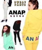 『ANAP』ロゴバックプリント紐付きパンツ【別売りSETUP】