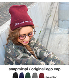 ANAPMIMPIオリジナルロゴ刺繍ニットキャップ