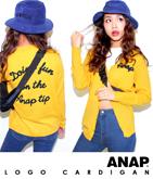 『ANAP』ロゴ刺繍ニットカーデ