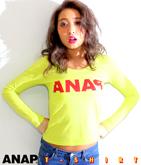 『ANAq』ロゴプリントロングTシャツ