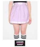 『UAP』ロゴプリントライン入フレアミニスカート