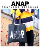 『ANAP』ロゴデニムフラットバッグ