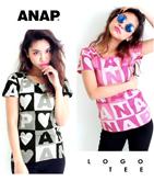 『ANAP』ロゴブロックパターンTシャツ