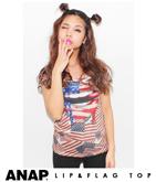 国旗×LIPプリントTシャツ