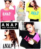 NETオリジナル 『ANAP』ロゴクロップドトップス