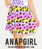 幾何学柄スカート