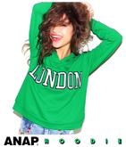 """LONDON""ロゴ刺繍ビタミンカラーフーディー"