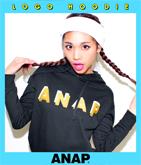 『ANAP』ロゴ刺繍×プリントプルオーバー