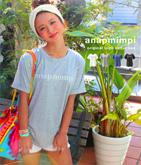 anapmimpiオリジナルロゴ・ロールアップTシャツ