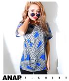 ビビットカラー幾何学柄BIG Tシャツ
