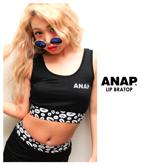 『ANAP』ロゴ刺繍×リップ柄ブラトップ【別売りSETUP】