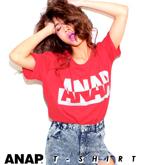 『ANAP』ロゴプリントBIG半袖Tシャツ