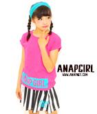 シンプルTシャツ×ストライプスカートセット
