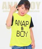 ゲーム風ロゴプリントTシャツ