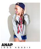 『ANAP』ロゴ×ペイズリー紐フーディー