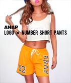 『ANAP』ロゴ×ナンバーショートパンツ