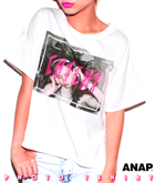 フォトプリントロールアップTシャツ