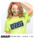 スパンコールBOXロゴTシャツ