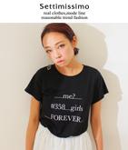 メッセージロゴクルーネックTシャツ
