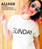 SUNDAYプリントTシャツ