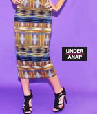 ネイティブ柄ロングタイトスカート