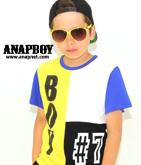 4配色BOYナンバーTシャツ