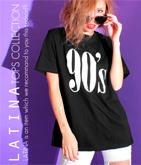 「90's」ロング丈Tシャツ