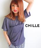 デニム風ロゴTシャツ