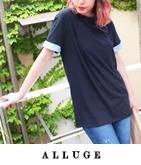 ペイズリー柄ロールアップ袖BIG Tシャツ