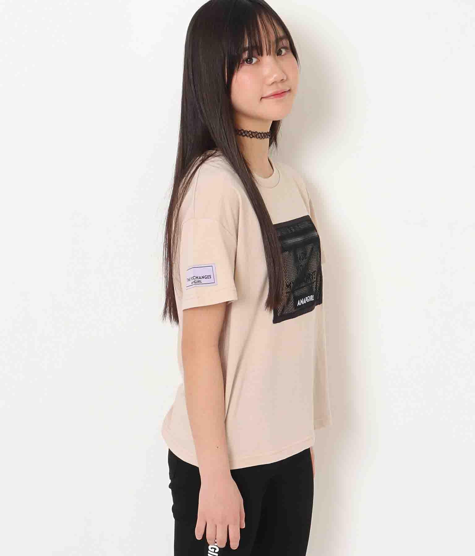 メッシュポケット付Tシャツ(トップス/Tシャツ)   ANAP GiRL
