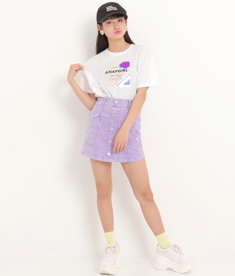 ホログラムワッペンクロップドTシャツ(トップス/Tシャツ) | ANAP GiRL