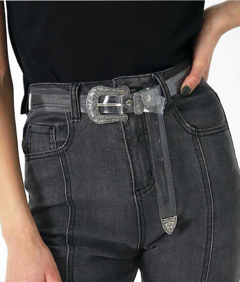 シルバーバックルベルト(ファッション雑貨/ベルト) | ANAP