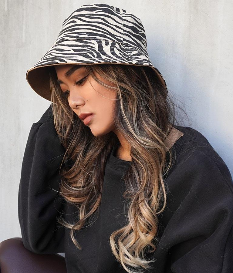 ゼブラリバーシブルバケットハット(ファッション雑貨/ハット・キャップ・ニット帽 ・キャスケット・ベレー帽)   ANAP