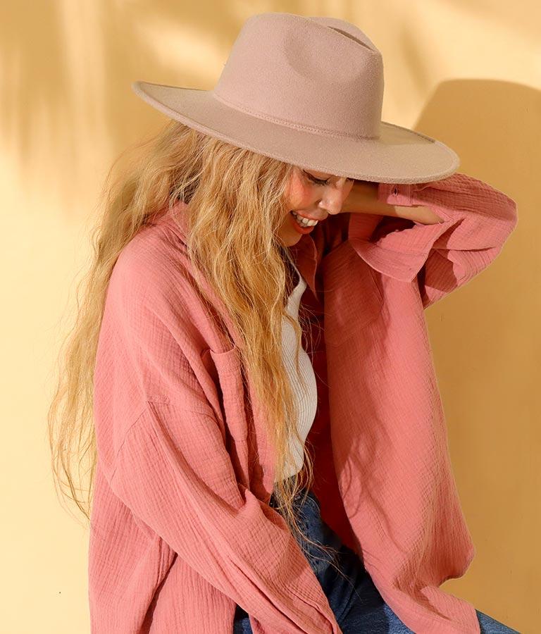 ツバ広中折ハット(ファッション雑貨/ハット・キャップ・ニット帽 ・キャスケット・ベレー帽) | anap mimpi